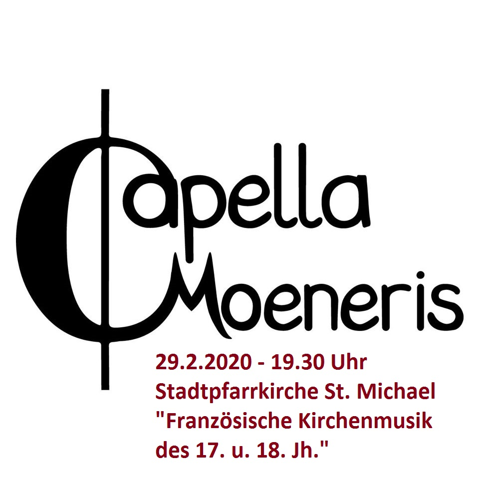 Konzert Ensemble Capella Moeneris