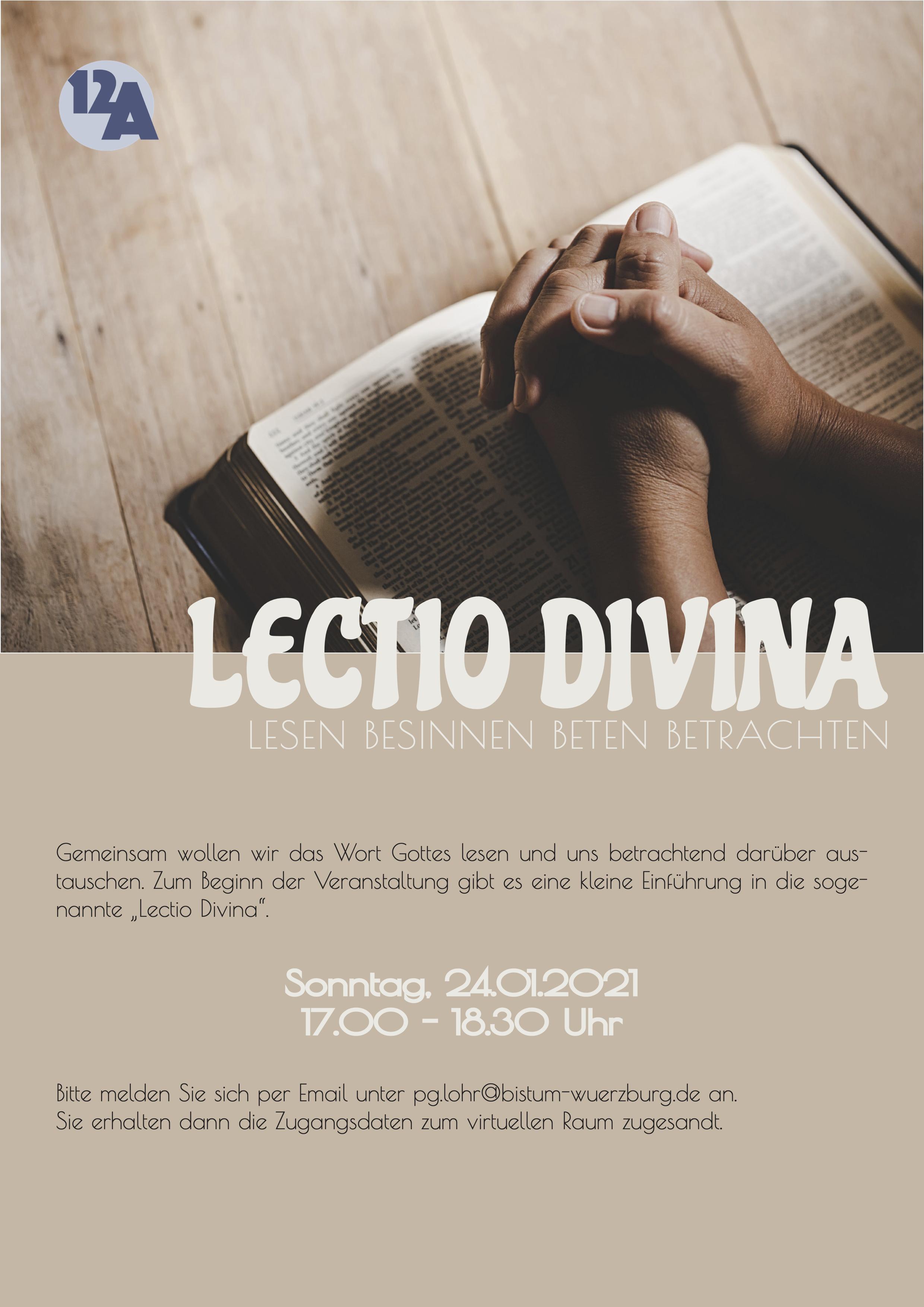 Lectio Divina - Lesen, Besinnen, Beten, Betrachten