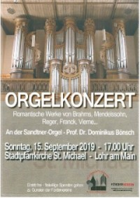 """Orgelkonzert """"Romantische Orgelmusik"""""""