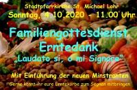 Familiengottesdienst Erntedank mit Einführung der neuen Ministranten