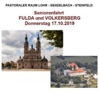 Seniorenfahrt der PG nach Fulda und auf den Volkersberg