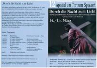 """Passionswallfahrt """"Durch die Nacht zum Neuen Tag"""""""