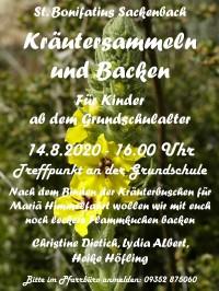 Kräutersammeln und Backen in Sackenbach