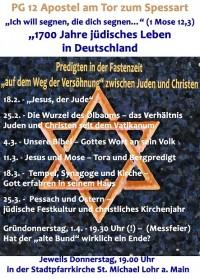 """Fastenpredigten 2021 """"1700 Jahre jüdisches Leben in Deutschland"""""""
