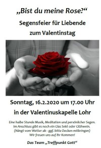 Segensfeier Valentinstag
