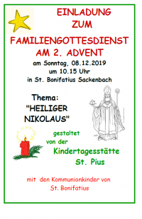 Familiengottesdienst Sackenbach
